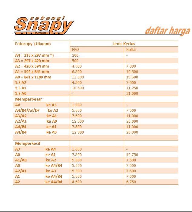 Harga digital printing di Snapy
