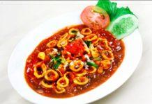 Langkah Membuat Resep Makanan Enak Yakni Cumi Asam Manis Pedas