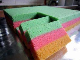 Kue Bolu Pelangi, Salah Satu Aneka Resep Kue Pilihan Anak