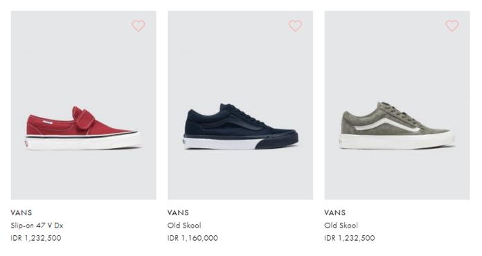 rekomendasi sepatu dari vans